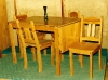 masa extensibila bucatarie cu scaune rustic masiv brad