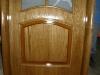 usa placata cu elemente din masiv stejar nuanta stejar antic geam decorativ toc semirotund detalii 2